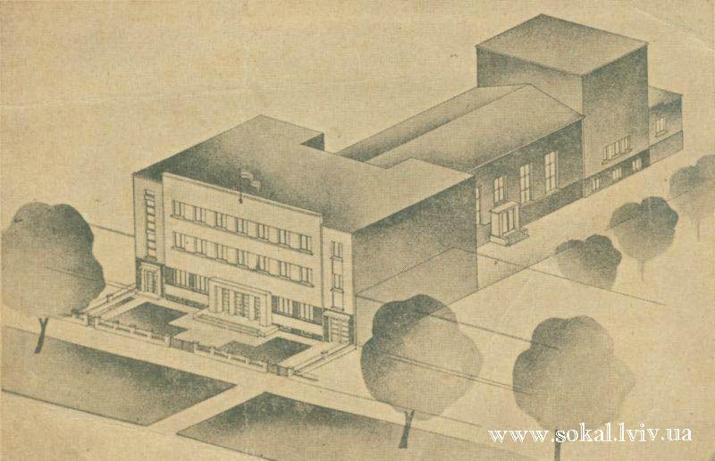 м.Сокаль, Проект Народного Дому, який мав би бути в Сокаліна місці колишнього магазину