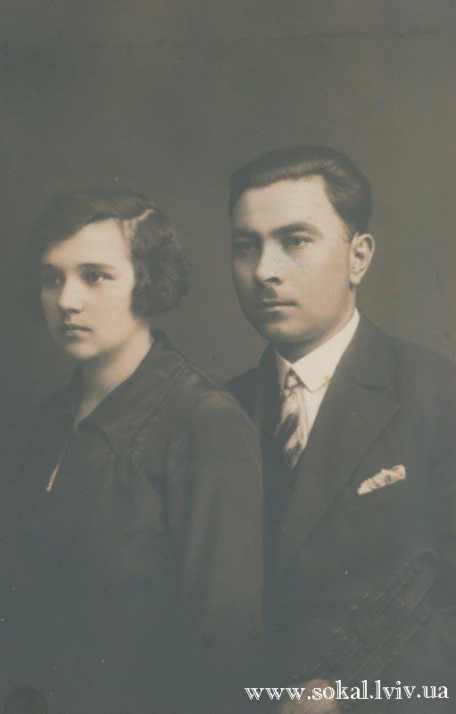 м.Сокаль, Директор торгівелької школи Тріска Іван і його дружина Ольга з Караванів