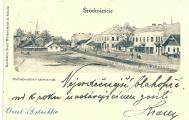 Середмісття Сокаляпустир на передньому плані,  місце під теперішнім костелом, за пам`ятником Шевченка