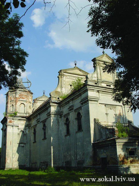 м.Угнів, Успенський костелпобудований 1632р.