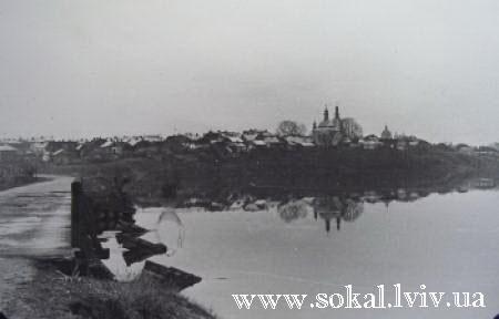 м.Сокаль, Кладка через Буг зі сторони Забужжя