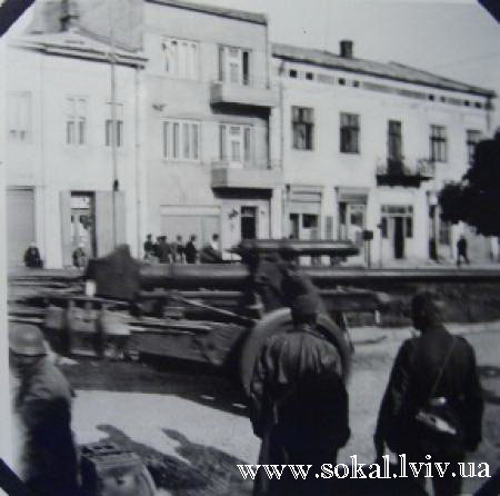 м.Сокаль, Німецькі війська в Сокалі, вул. Ленінатепер Шептицького