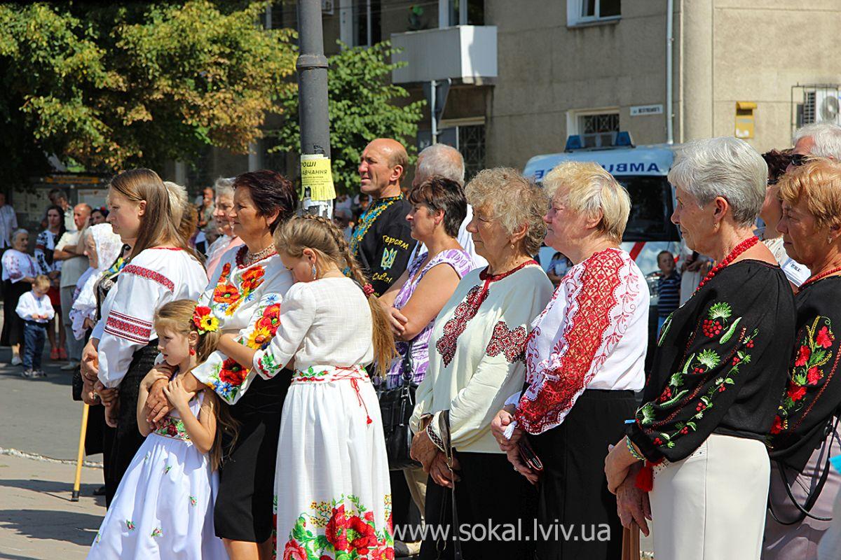 м.Сокаль, урочистостi з нагоди 24 річниці Незалежності УкраїниСокальчани