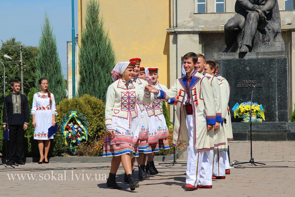 м.Сокаль, урочистостi з нагоди 24 річниці Незалежності України