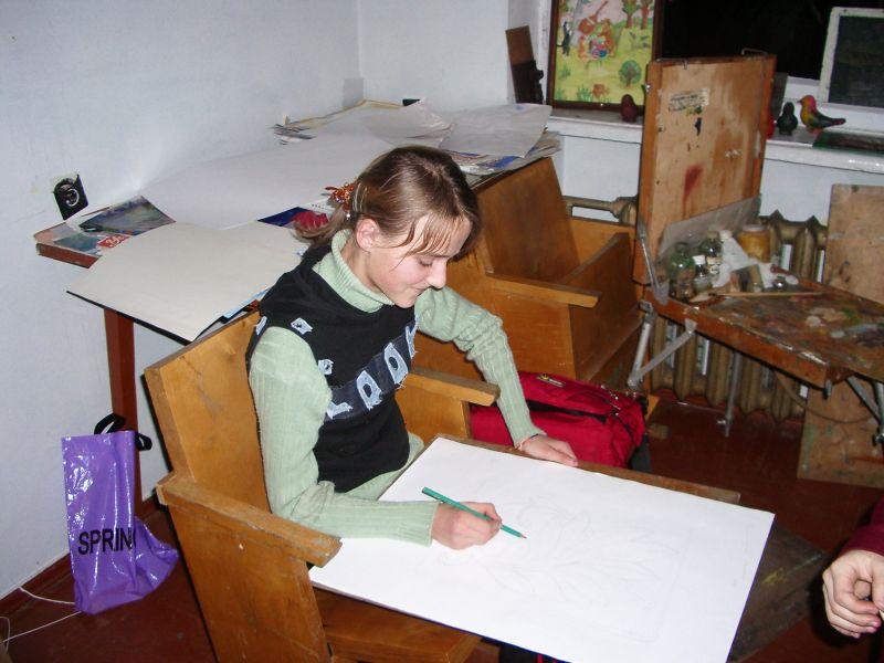 м.Сокаль, В світі прекрасногона уроці малюнку