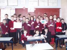 А це учні 3-А кл. демонструють результати після уроку математики, вчитель Н.Д.Капуста