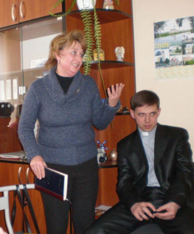м.Сокаль, збори КС Вигода Оксана Проць, заступник головного редактора газети Голос з-над Бугу