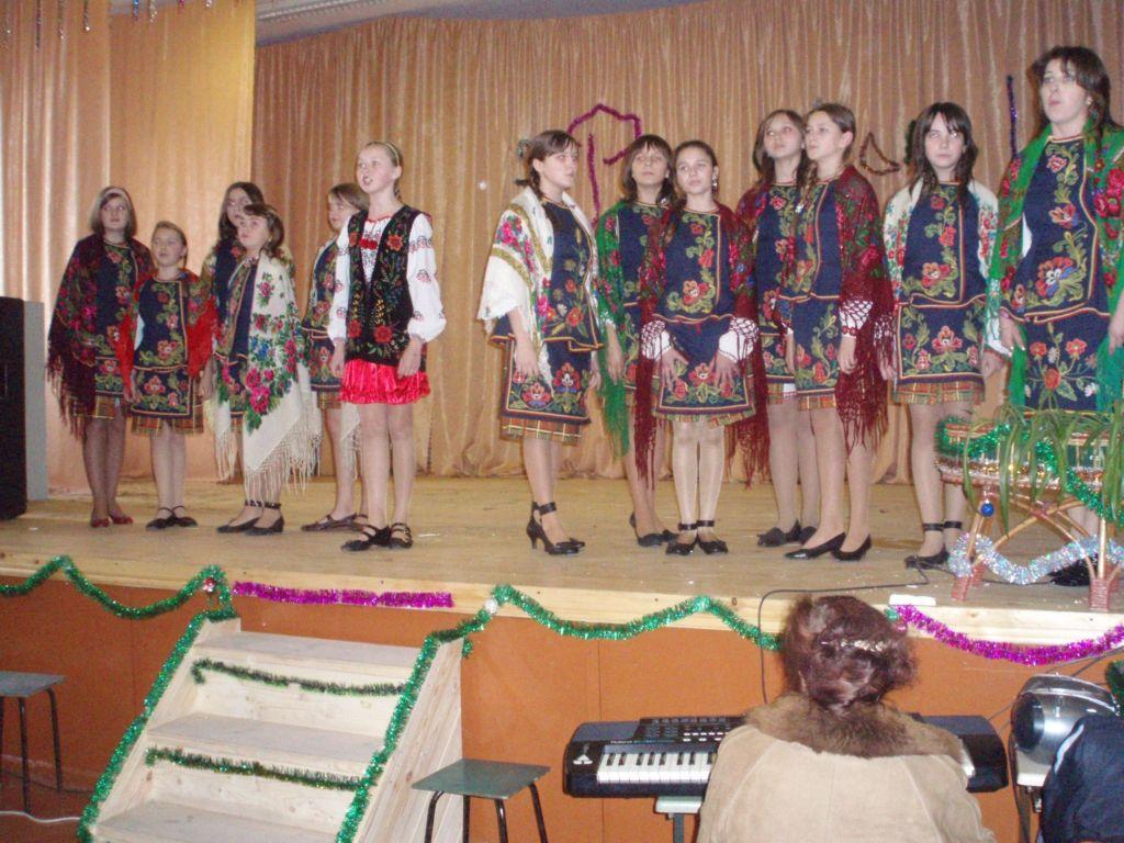 м.Сокаль, освітаРайонний конкурс «Різдвяні канікули-2009».Гімназисти також і співають, і колядують