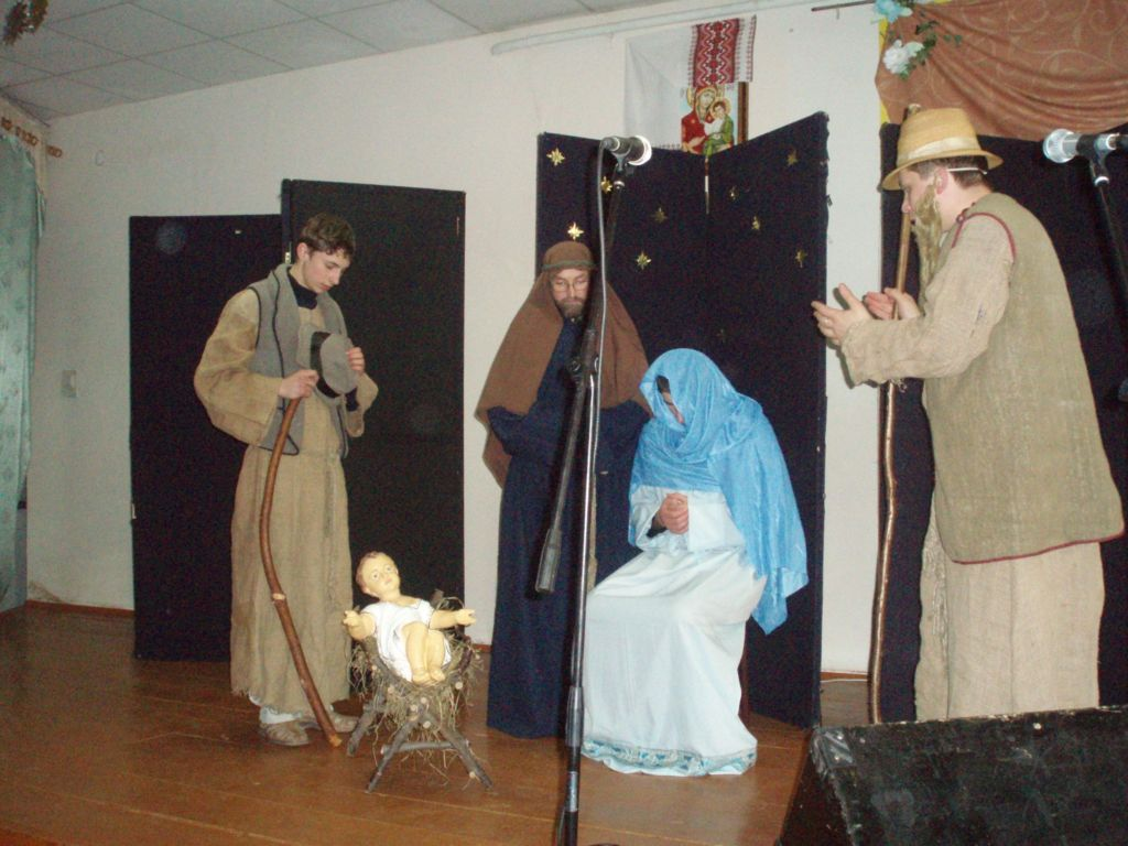 освітаЦього року ми мали унікальну можливість поспілкуватися із братами з Крехівського монастиря. Вони приїхали із Вертепом до нас у гімназію на запрошення дирекції.