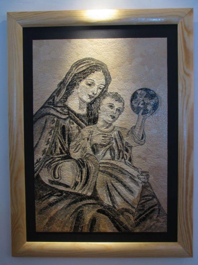 м.Сокаль, Виставка  народної майстрині Русу Міци (Румунія-Італія)робота Русу Міци в музеї Покотюка