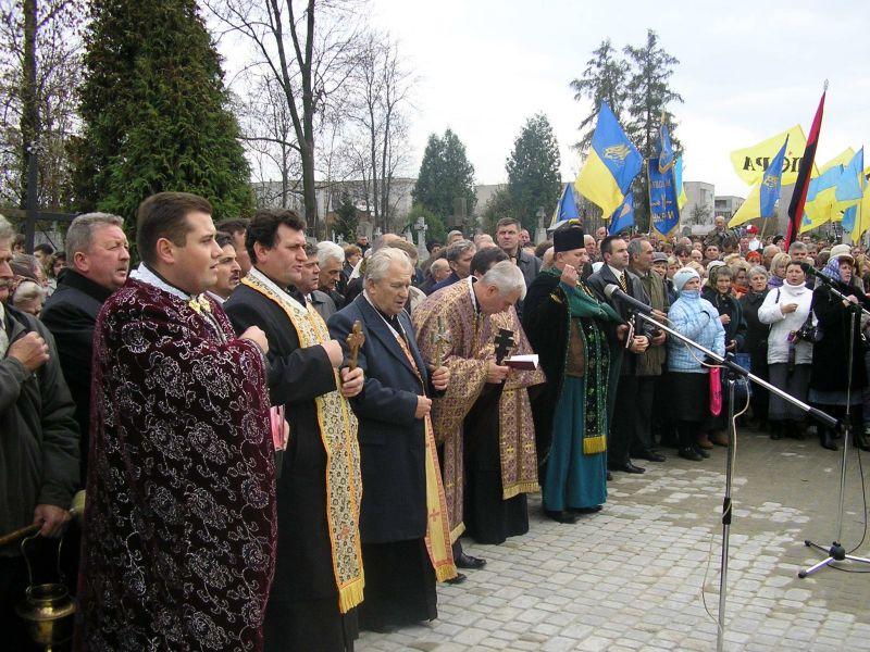 м.Сокаль, пам'ятник воїнам Української Галицької АрміїОсвячення пам'ятника