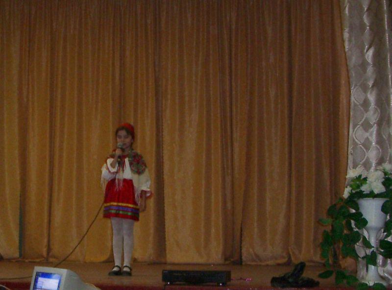 м.Сокаль, Конкурс «Різдво-2007»виступ Софійки Журавінської (школа-сад «Соколятко»).